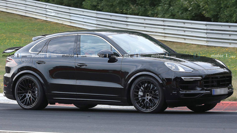 Porsche Cayenne Coupe Spied Showing Off Its Weird Rear Wing