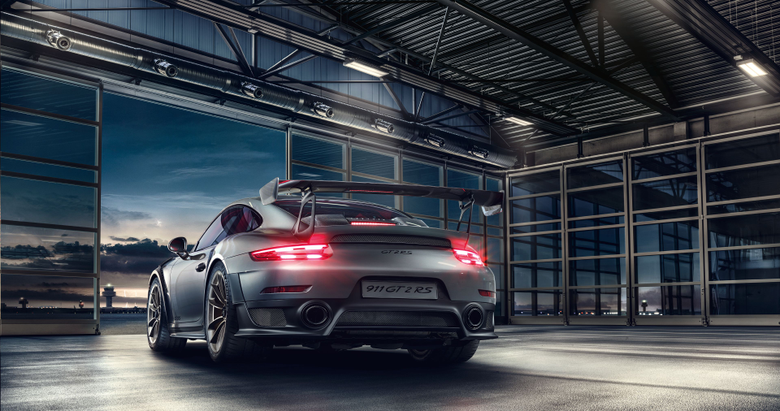 Wallpapers Porsche 911 GT2 RS Rear view HD 4K Automotive Cars