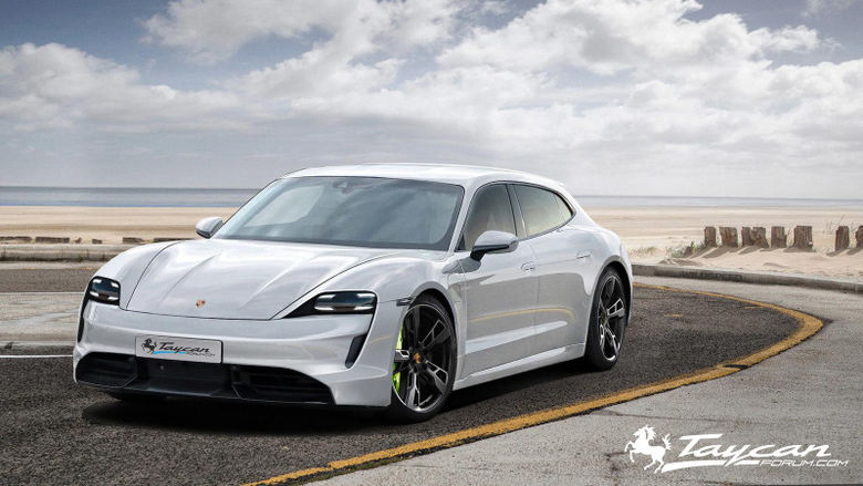 Here s How Badass the Porsche Taycan Sport Turismo Wagon Could Look