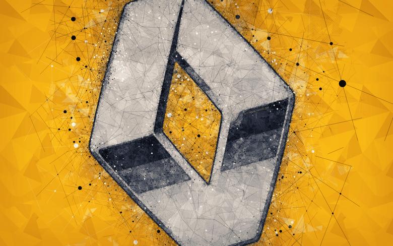 wallpapers Renault Sport Formula One Team 4k art logo