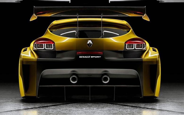 Renault Megane Trophy Back Wallpapers