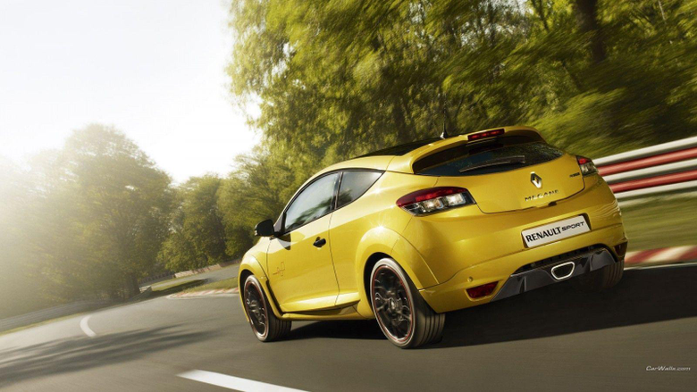 Wallpapers yellow cars Renault Megane RS land vehicle automotive