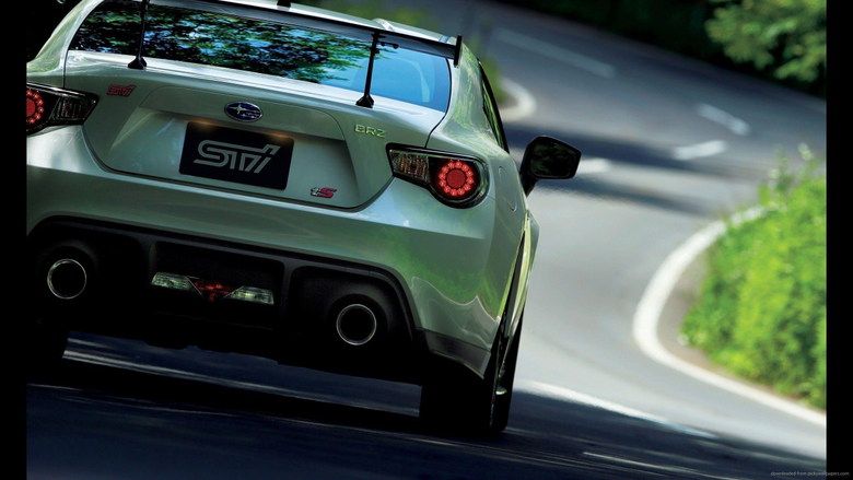 2560x1440 Subaru BRZ STI TS Back Wallpapers