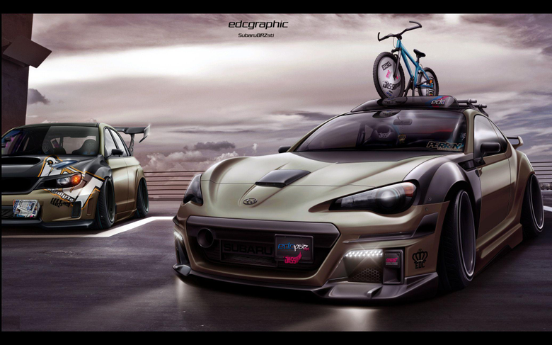 Subaru BRZ Sti EDC Graphic by edcgraphic