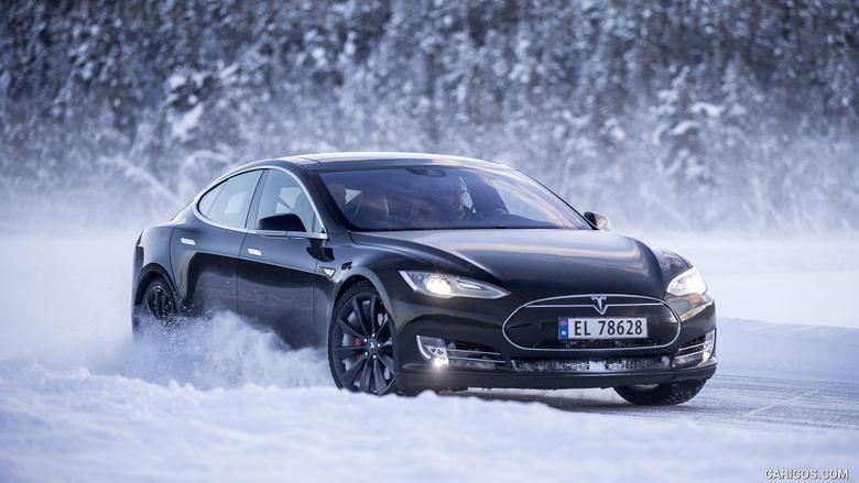 2016 Tesla Model S In Snow Front Hd Wallpapers 35 1920 X 1080 16662