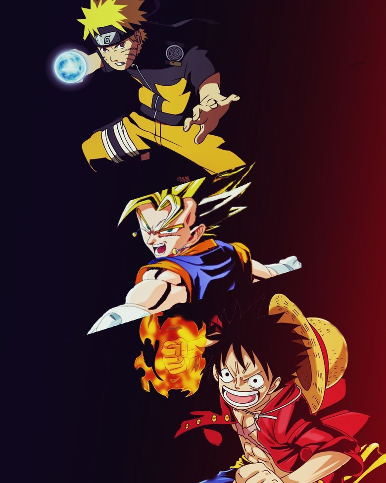 Wallpapers Goku Naruto Y Luffywalpaperlist