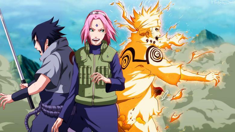 Uzumaki Naruto Uchiha Sasuke Girl Haruno Sakura Desktop Wallpapers