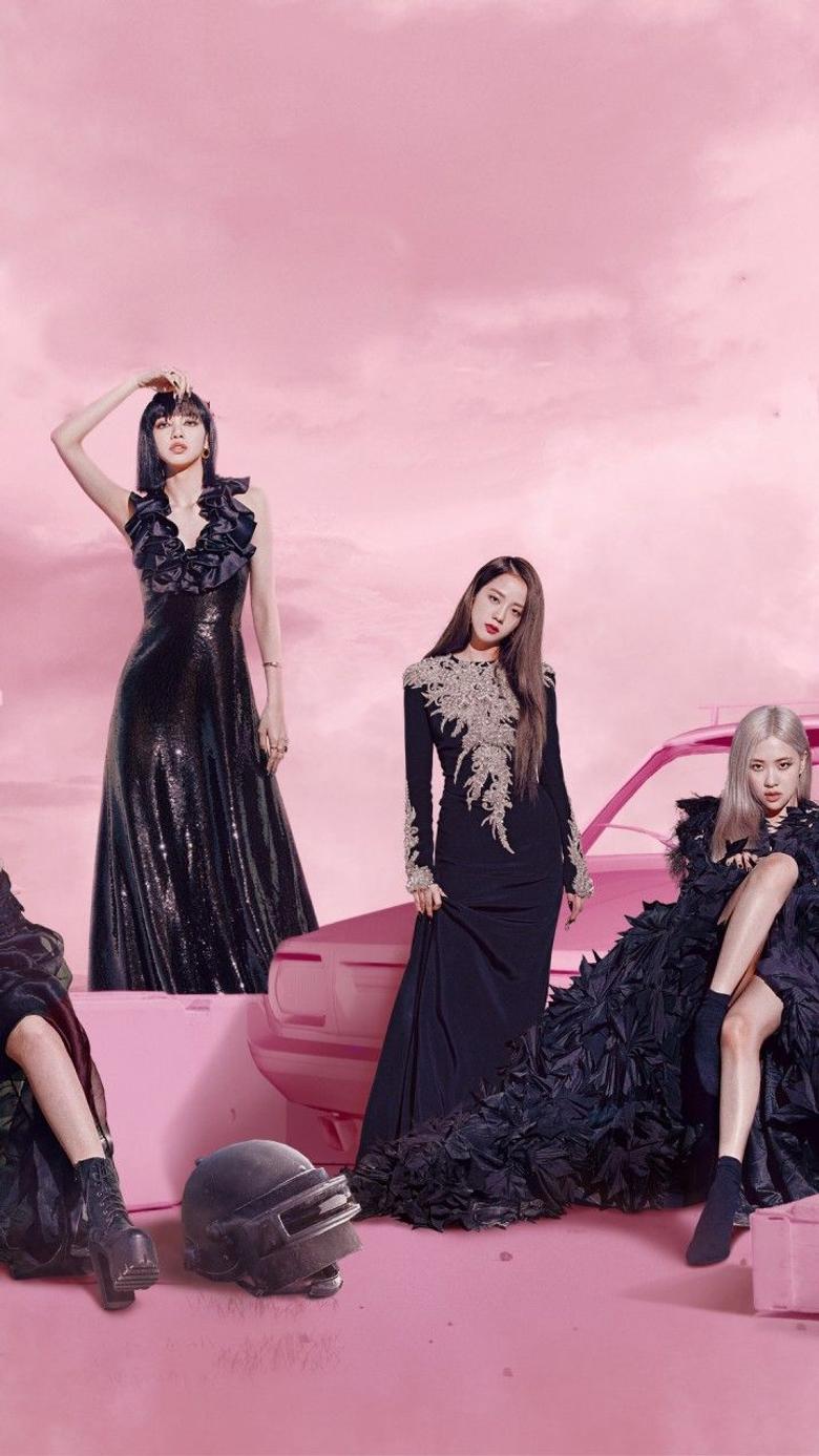 Blackpink 4K Wallpaper PUBG MOBILE Pink background Music