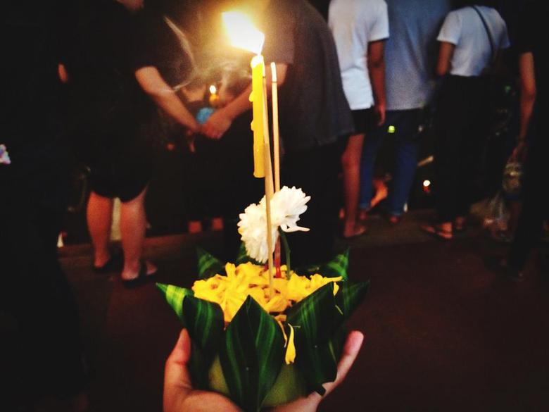 Happy Loy Krathong Day Flower Human Body Part Human Hand R