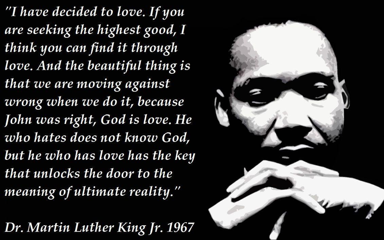 Martin Luther King Jr His own words on love hate and speech