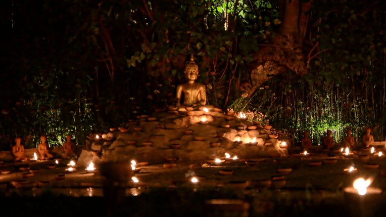 Chiang Mai Thailand 25 th February 2016 Magha puja day Buddha