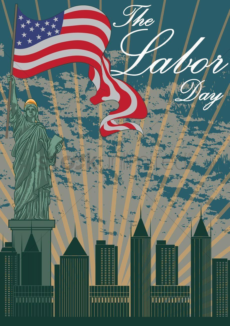 Happy labor day wallpapers Vector Image