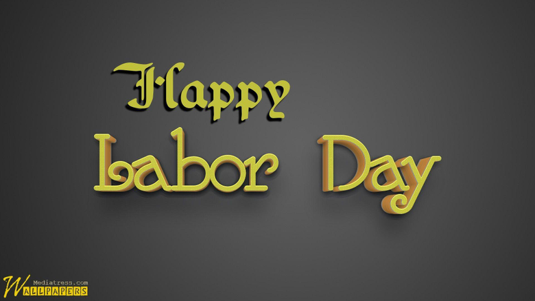 Labor Day 3D Text On Dark Backgrounds