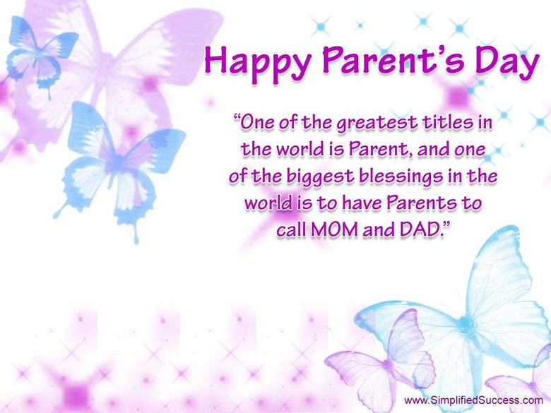 World Parents Day Let s Celebrate