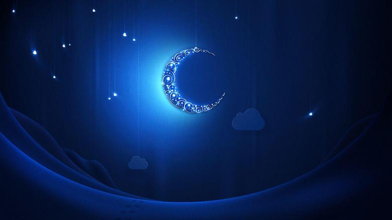 Blue moon at Ramadan wallpapers and image