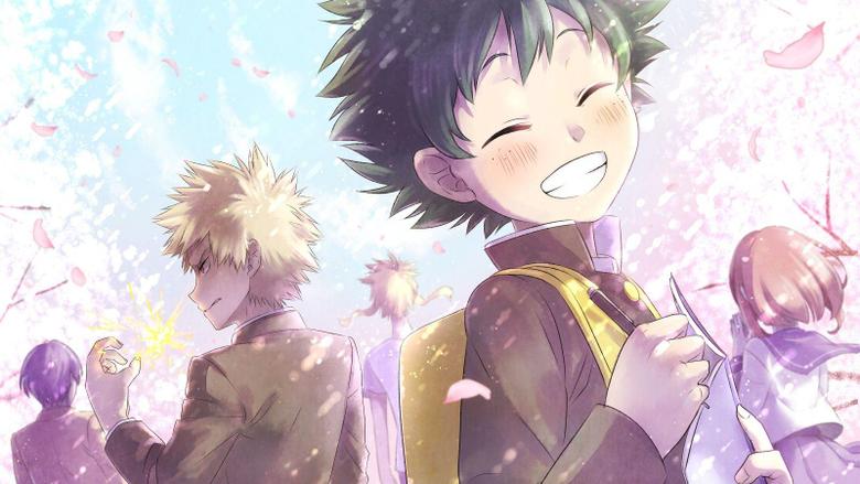 Wallpapers illustration anime Boku no Hero Academia Katsuki