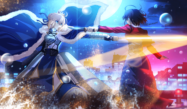 Can someone remove the text Fate Stay Night x Kara no Kyoukai