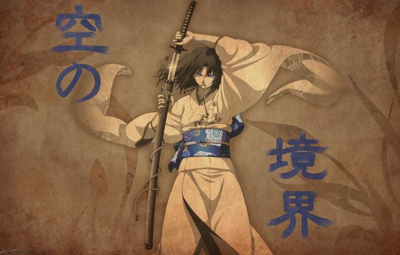 Wallpapers katana sword kimono Japanese clothing kara no kyoukai