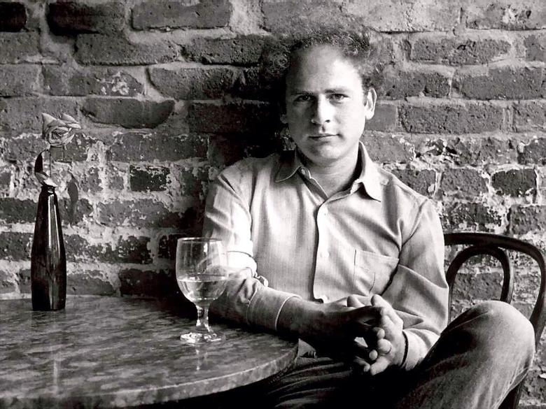 Art Garfunkel having a glass