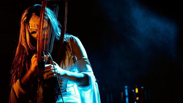 Concert harp harpist neofolk folk daemonia nymphe wallpapers