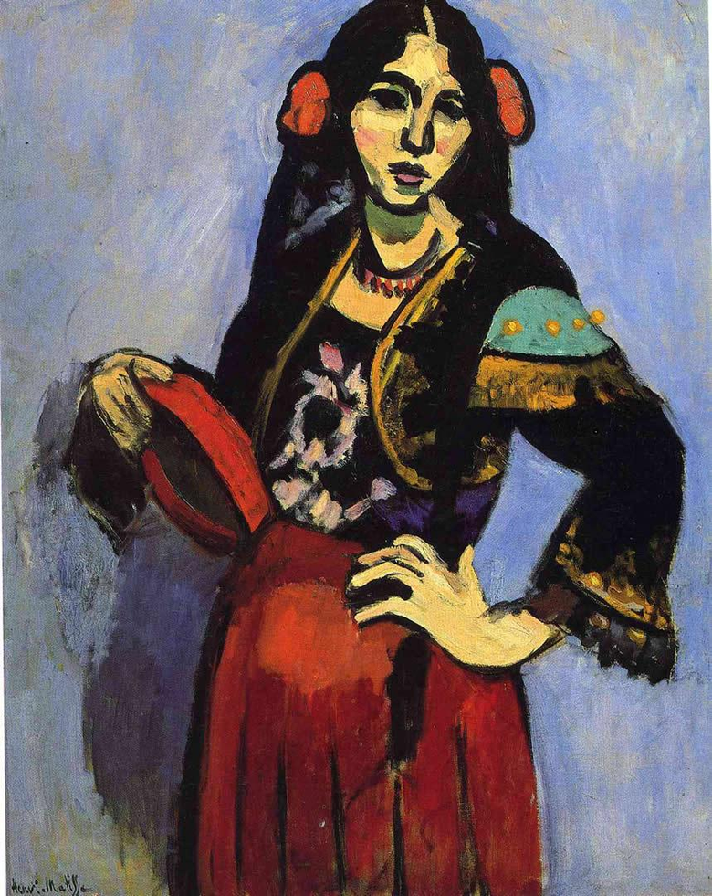 Spanish Woman With A Tambourine
