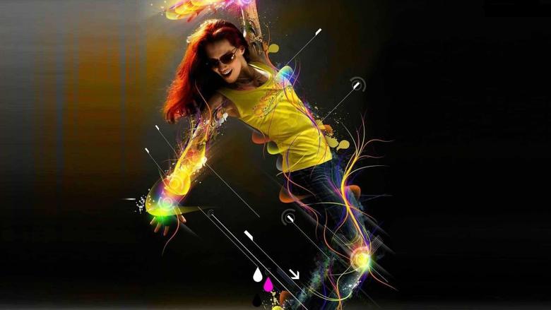 Women music dance hip hop urban females manipulation wallpapers