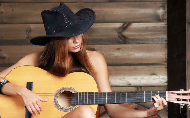 Guitar hat country wallpapers and image