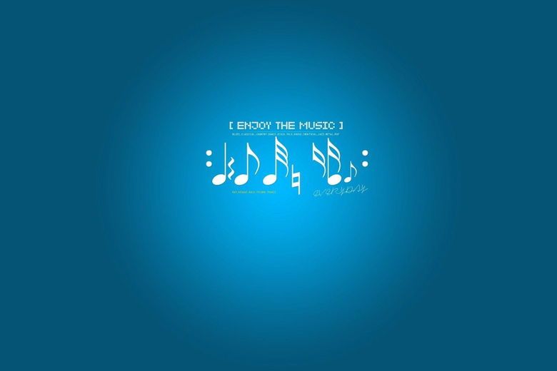 Blue backgrounds music notes wallpapers