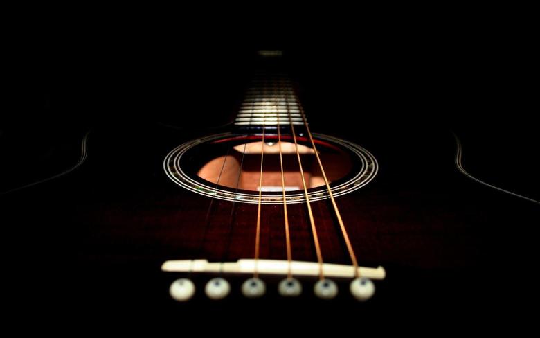 black acoustic guitar wallpapers Gallery