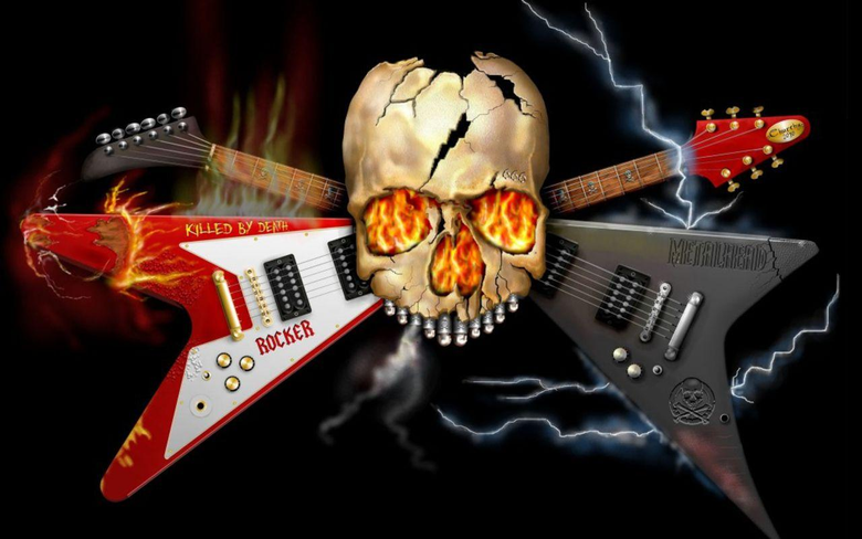 skeleton with guitar image
