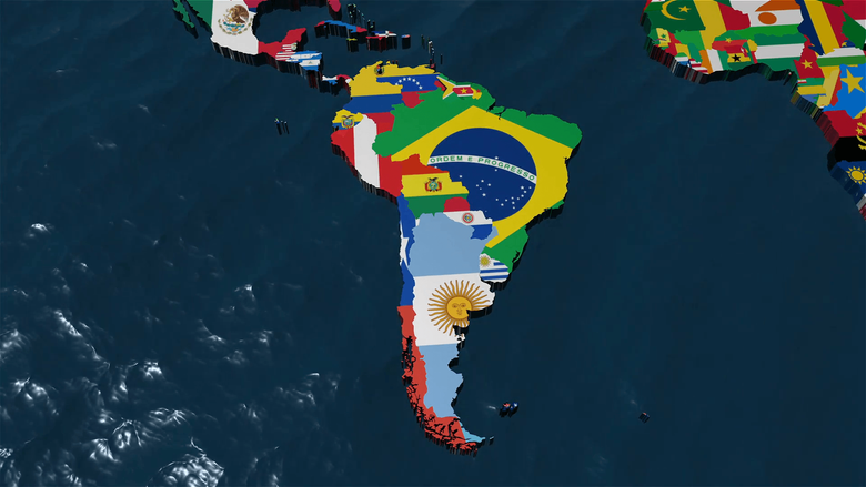 D World Map to South America Motion Backgrounds