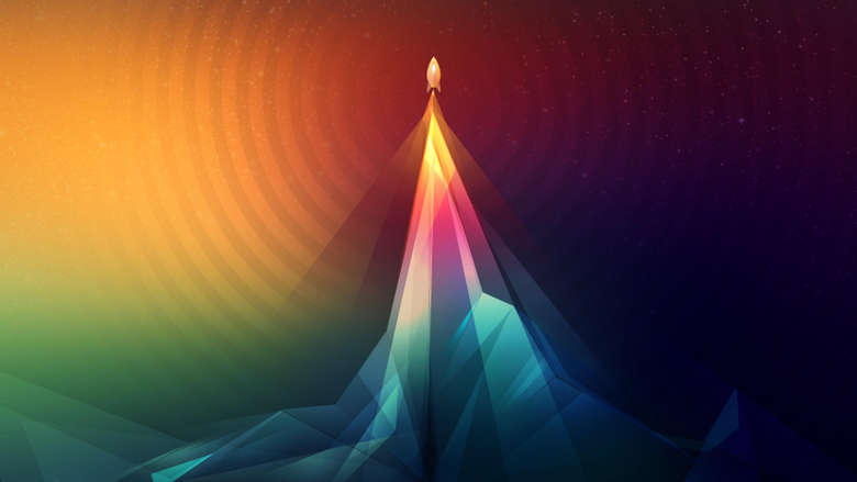 Psychedelic Rocket Launch 3413x1920 wallpapers