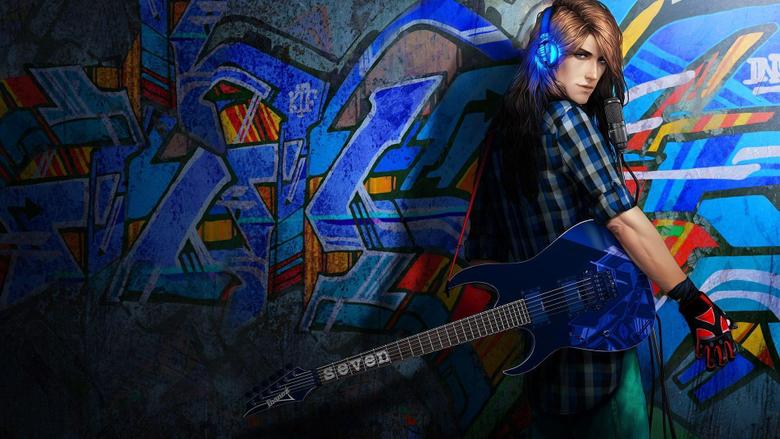 Rock and roll man Graffiti Wallpapers