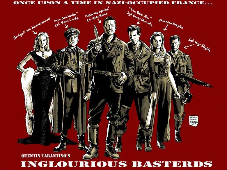 wallpaper Inglourious Basterds movie Quentin Tarantino Brad