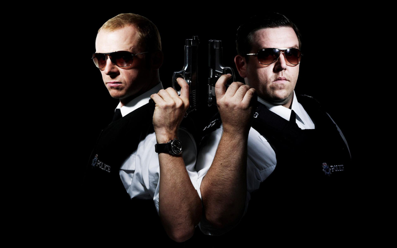 Hot fuzz Nick Frost Simon Pegg wallpapers