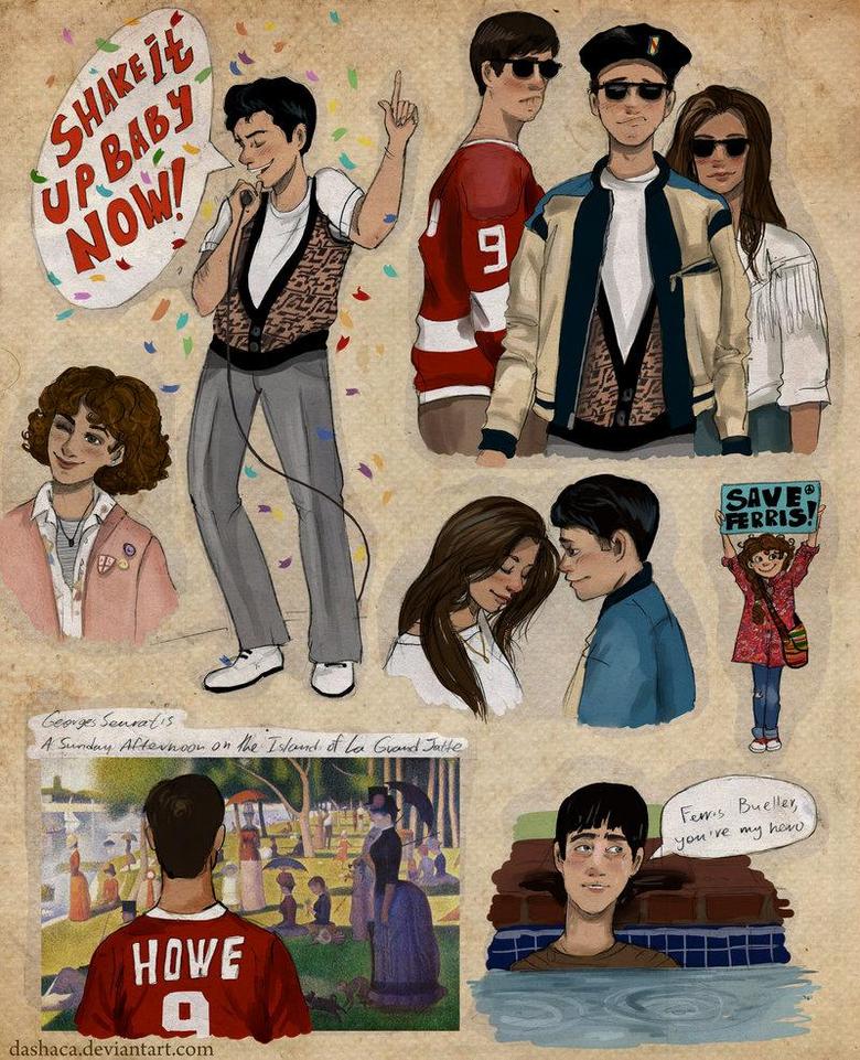 Ferris Bueller paintings