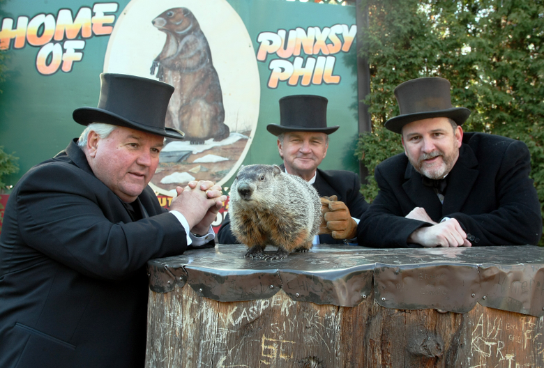 Three Rodents Prognosticate on Groundhog Day