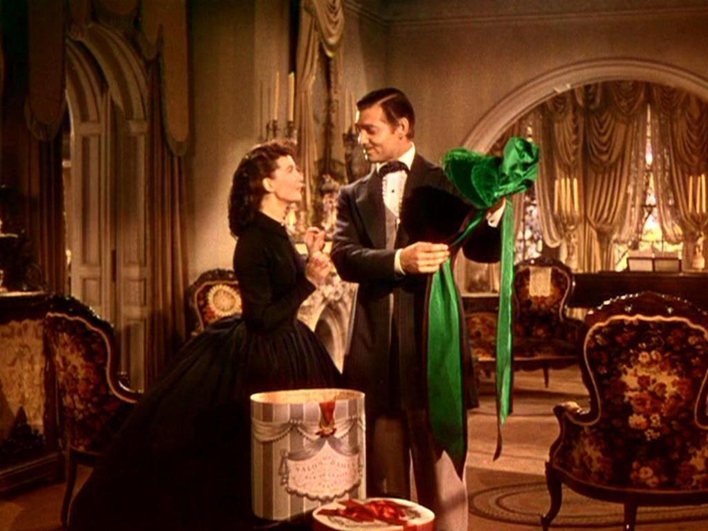 Vivien Leigh Scarlett O Hara and Clark Gable Rhett Butler