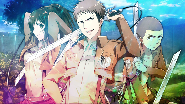 wallpapers from anime Attack On Titan with tags Cool Sasha Blouse Connie Springer Jean Kirstein
