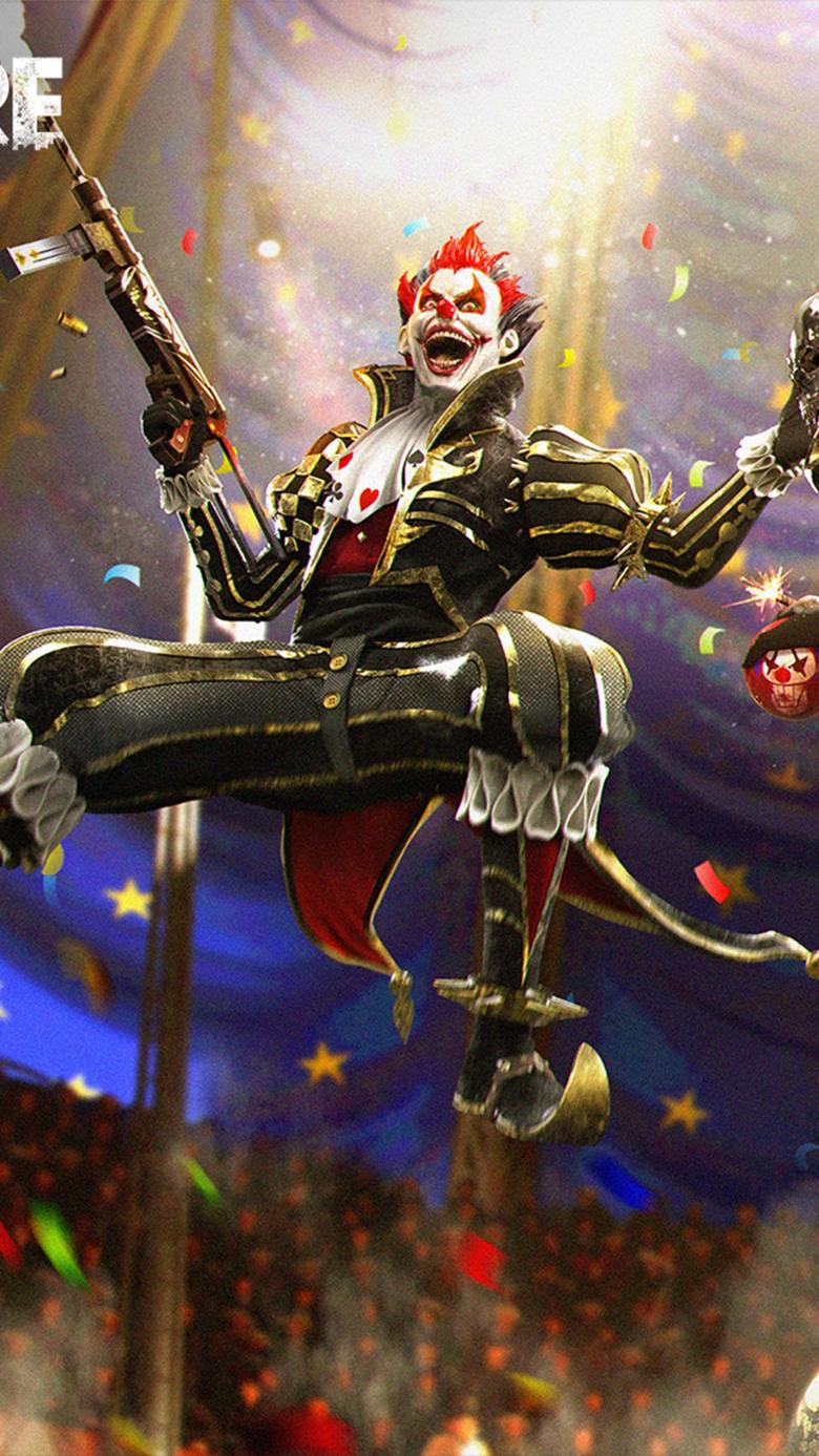 Night Clown Garena Fire 4K Ultra mordeo