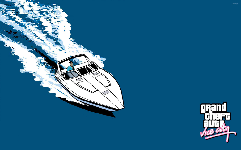 Yacht ride in Grand Theft Auto Vice City wallpapers