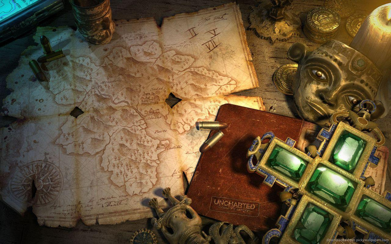 1280x800 Uncharted Emerald Cross Relic Wallpapers