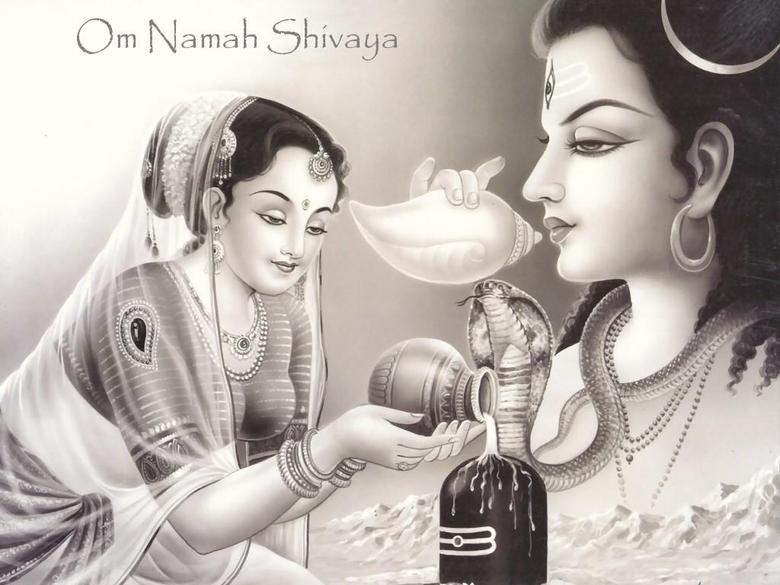 Shiva Lingam Puja wallpapers