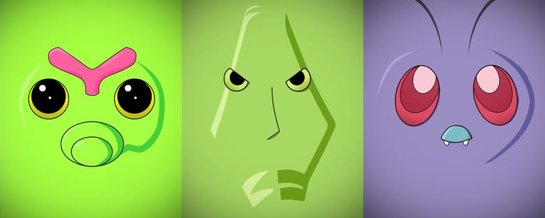 Minimalist Caterpie Metapod and Butter by Vault