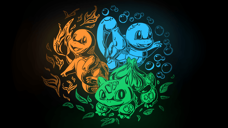 Bulbasaur Charmander Kanto Pkemon Squirtle Video Games