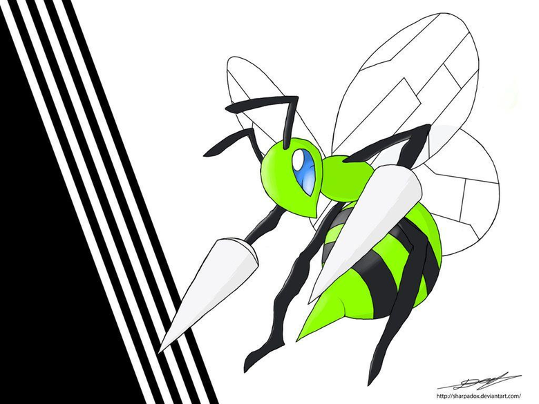 Shiny Beedrill by Sharpadox
