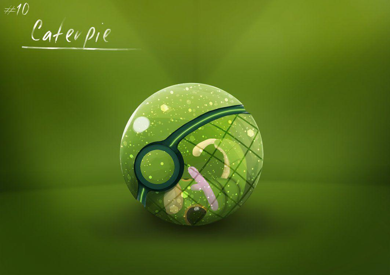 Conceptual Pokeball Caterpie by Lun1c