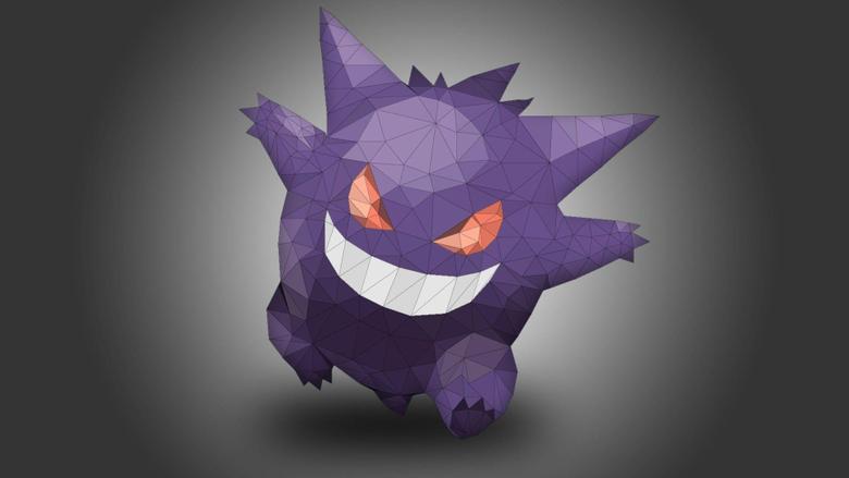 Haunter Gengar Pokémon Gastly Low poly HD Wallpapers Desktop