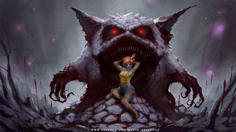 For My Fans Misty Gengar Creepy Pinup Wallpapers