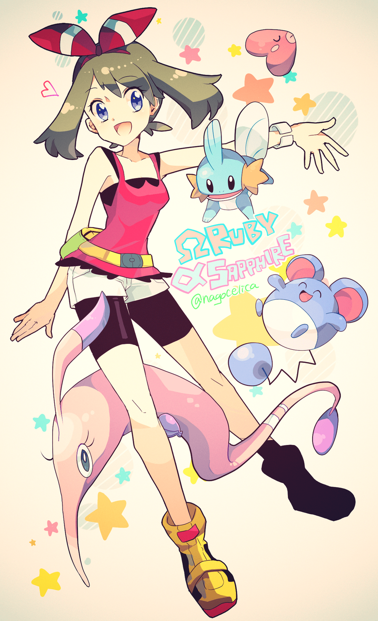 Omega Ruby and Alpha Sapphire May Mudkip luvdisc marill and